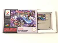 TMNT Teenage Mutant Ninja Turtles In Time IV Super Nintendo Game SNES Boxed PAL