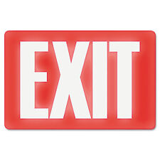 Headline Sign Glow In The Dark Sign 8 x 12 Red Glow Exit 4792