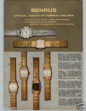 1957 PAPER AD 3 Pg Watch Benrus Sky Cadet Sport Chief Sea Flag Embracable Dream