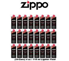 24x ZIPPO FLUID 4oz Size Fuel for Zippo Windproof Pocket Lighters WHOLESALE LOT