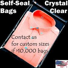 12x15 Clear Resealable Self Adhesive Seal Cello Lip Amp Tape Plastic Bags T Shirt