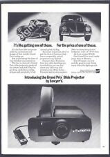 SAWYER'S Grand Prix Slide Projector 1971 Vintage Print Ad # 150 0