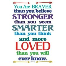 Inspirational Text Wall Sticker You Are Braver English Kids Room Decal Art Decor