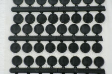 Round Black Plastic Dial Markers Available In Three Sizes 6mm, 8mm and 10mm