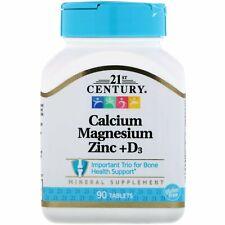 Calcium Magnesium Zinc Vitamin D3 90tabs   Bone Support Formula