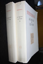 Le rouge et le noir. Stendhal. 2 volumes in8. Editions du Griffon. 1948