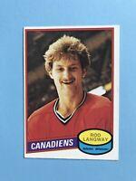 Rod Langway NICE ROOKIE O-Pee-Chee NHL Hockey Card 1980-81 #344  SEE PHOTOS