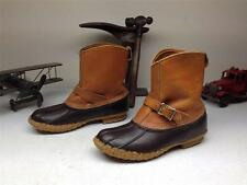 VINTAGE L.L. BEAN MADE IN USA BROWN LEATHER/RUBBER DUCK HUNT WINTER BOOTS 9M