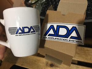 ADA Logo MUG CUP Porcelain Tea Coffee With ADA Decal STICKER Mp1 Mp2 Mb1 Preamp