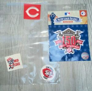 Cincinnati Reds 150th Anniversary MLB Licensed Away Secondary Logo Sleeve Patch