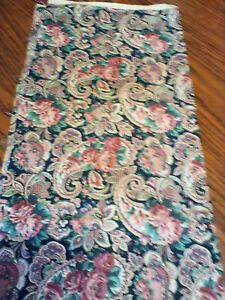 Vintage lot 6-pieces VIP Screen Print Paisley Floral quilting fabric