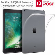 """Crystal Transparent Soft Clear TPU Silicone Case Cover for Apple iPad 9.7"""" 2017"""