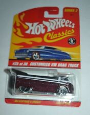 HOT WHEELS CLASSICS CUSTOMIZED VW DRAG TRUCK SERIES 2 PURPLE 25 OF 30