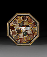 48'' Marble Confrence Table Top Micro Mosaic Inlaid Collectible Decorated H3851C