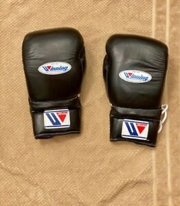 Boxing Gloves Winning 16oz 16 oz Lace Up Black MS-600