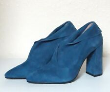 Moda In Pelle CIMMIE Teal Suede Boots, UK 7/EU 40