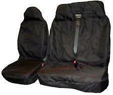 Pair 2+1 Black Heavy Duty Waterproof VAN Seat Covers Suits RENAULT TRAFIC