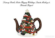 Disney Parks Teapot - Santa Mickey & Friends Warm Winter Wishes - NEW with BOX