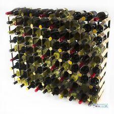 Cranville wine rack storage 90 bottle pine wood and black metal assembled