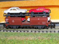 MINITRIX carro bisarca trasporto 4 auto a 2 assi della DB art. 51 3533 00 VP