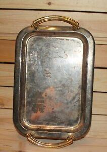 Vintage chromed serving tray