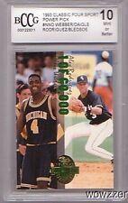 1993 Classic 4 Sport Alex Rodriguez RC No# BECKETT 10 MINT Yankees