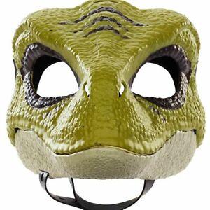 Velociraptor GREEN MASK Jurassic World CAMP CRETACEOUS Costume Dino HALLOWEEN!!!