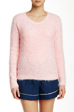 New PJ SALVAGE Women's Boucle Blush Super Soft Heathered Crew Neck Sweater Top M