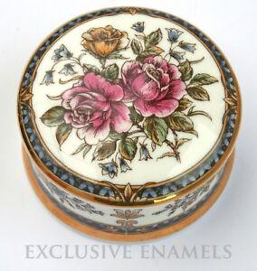 Falcon China Staffordshire Victoriana Pattern China Box