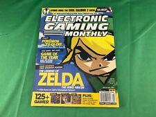 """ELECTRONIC GAMING MONTHLY"" Magazine, ""ZELDA: THE WIND WAKER"" Issue, #165, 2003!"