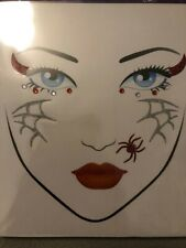 HALLOWEEN PARTY FACE ART STICKERS STICKY BODY ART FUNKY TEMPORARY TATTOOS