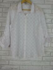 REGATTA Top/Blouse Sz 16 White Floral Print