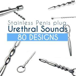 80 Designs Luxury Quality Stainless Ring Urethral Sound Plug Dilator Bondage