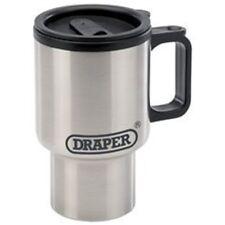 14oz Stainless Steel Draper Vacuum Cup - 400ml Mug Travel Camping Hiking Work