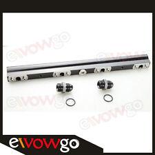 For Nissan 200SX S14, S15 SR20DET High Flow CNC Billet Aluminum Fuel Rail Black