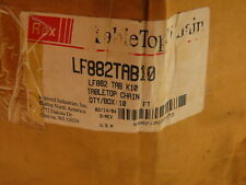 Rexnord Lf882tab10 Table Top Conveyor Chain Side Flexing 10 Wide 10ft Tan