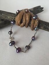 Silver Bracelet 8� Fresh Water Pearl Wire