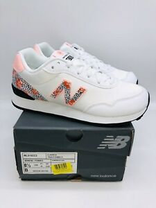 New Balance Women's 515v3 Suede Sneaker - White & Cloud Pink US 8.5M / EUR 40