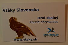 Sos/ birdlife Slovakia GOLDEN EAGLE Enamel Pin badge Aquila chrysaetos rspb