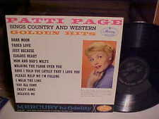 PATTI PAGE LP Sings Country And Western Golden Hits LP (Mono) Country NM VINYL