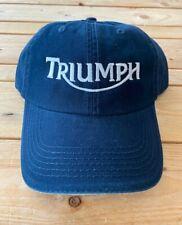 Vintage TRIUMPH Navy  Motorcycle logo hat