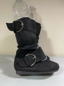 LINK GIRL'S BLACK SIDE ZIP BOOTIES TODDLER SIZE 6 NWT