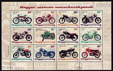 UNGHERIA 2014 motocicli biciclette a motore VECCHIO-Timer in miniatura foglio unmounted Nuovo di zecca
