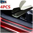 Stickers Carbon Fiber Car Door Sill Protector Scuff Plate Trim Parts Accessories