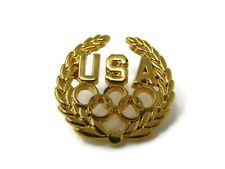 Usa Olympics Gold Tone Vintage Collectible Pin
