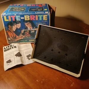 1967 Hasbro LITE-BRITE with Original Box & Instructions TESTED & WORKING