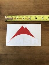 """MSR  Red White Sticker/Decal Outdoor Hiking Backpack Approx 5"""" New"""