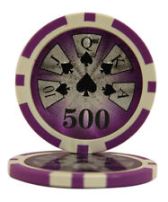 100pcs High Roller Casino Laser Clay Poker Chips $500