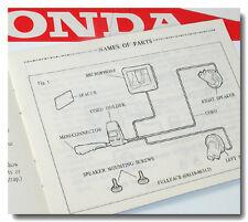 HONDA PARTS HONDALINE HEAD SET GL500 GL650 SILVER GL1100 GL1200 GOLD WING MANUAL