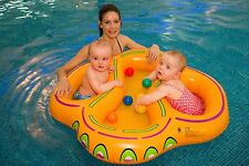 Twin swim seat float for baby swimming aid double babies ring new